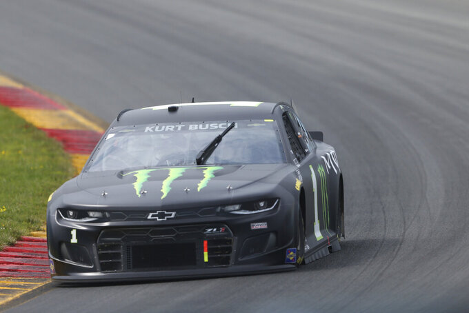 Kurt Busch turns to the Esses during a NASCAR Cup Series auto race in Watkins Glen, N.Y., on Sunday, Aug. 8, 2021. (AP Photo/Joshua Bessex)