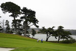Davis Love III, right, walks on the 15th fairway during practice for the PGA Championship golf tournament at TPC Harding Park in San Francisco, Tuesday, Aug. 4, 2020. (AP Photo/Jeff Chiu)