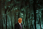 FILE - In this file photo taken on April 20, 2009, Israeli Prime Minister Benjamin Netanyahu speaks during the opening ceremony marking the Holocaust Remembrance Day at Yad Vashem Holocaust Memorial in Jerusalem. (AP Photo/Dan Balilty, File)