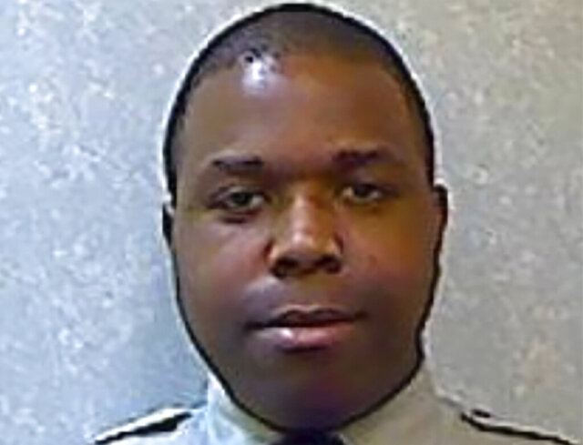 This undated photo provided by the Prince George's County Police Department shows Prince George's County Police Department Cpl. Michael Owen Jr. Owen, accused of shooting and killing a handcuffed man in the front seat of a police cruiser, will face a murder charge, the department announced Tuesday, Jan. 28, 2020. (Prince George's County Police Department via AP)