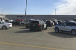 Law enforcement vehicles are seen at the Red Bluff Walmart distribution center after a shooting, Saturday, June 27, 2020, in Red Bluff, Calif. (Damon Arthur/The Record Searchlight via AP)