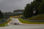Alfa Romeo driver Antonio Giovinazzi of Italy steers his car during the third practice session ahead of the Formula One Grand Prix at the Spa-Francorchamps racetrack in Spa, Belgium, Saturday, Aug. 28, 2021. The Belgian Formula One Grand Prix will take place on Sunday. (AP Photo/Francisco Seco)