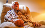 Reflecting back about his time in the battle for the Pacific during WWII veteran Loyd W. Brandt sits in his chair at his home on Wednesday in Rapid City.(Adam Fondren/Rapid City Journal via AP)