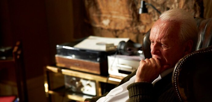 This image released by Sony Pictures Classics shows Anthony Hopkins in a scene from