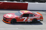 Justin Allgaier drives on track during the NASCAR Xfinity Series auto race at Darlington Raceway, Saturday, May 8, 2021, in Darlington, S.C. Allgaier won the race. (AP Photo/Terry Renna)