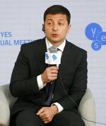 Ukrainian President Volodymyr Zelenskiy addresses the 16th Yalta European Strategy (YES) annual meeting entitled