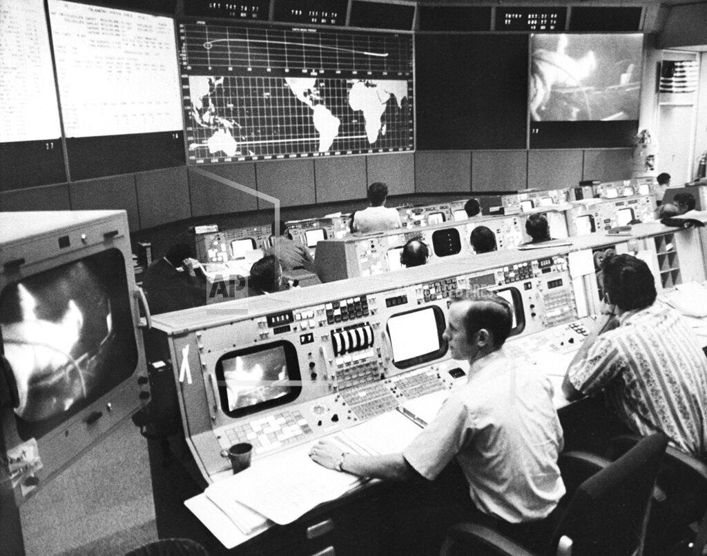 Associated Press Domestic News Texas United States NASA MISSION CONTROL APOLLO 15