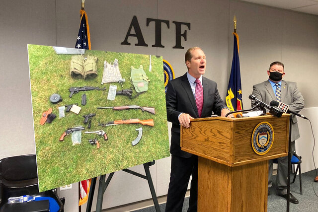 U.S. Attorney Matthew Schneider announces Wednesday, July 29, 2020, that dozens of federal agents and deputy marshals are being assigned to Detroit to combat gun violence and arrest fugitives. Detroit police said hundreds of guns were seized in a recent four-week period. Schneider added that