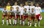 Denmark's amateur players pose for the team photo prior the friendly soccer match between Slovakia and Denmark in Trnava, Slovakia, Wednesday, Sept. 5, 2018. Every player in Denmark's squad are uncapped following a dispute between Denmark's star players and the Danish Football Association. Up from left: Denmark's Keeper Christoffer Haagh, Christian Bannis, Kasper Kempel, Daniel Nielsen, Nicolai Johansen, Christian Offenberg. Down from left: Mads Priisholm Bertelsen, Oskar Hoybye, Simon Vollesen, Rasmus Gaudin, Rasmus Johansson. (AP Photo/Ronald Zak)