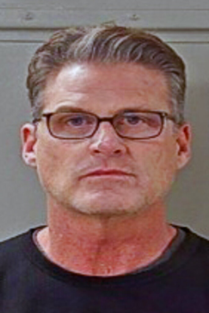 This photo provided by the Rutherford County Sheriff's Office shows Jim Farmer. A grand jury has brought charges in a sex trafficking case against former NBA player and one-time University of Alabama basketball standout Jim Farmer, who was caught up in an undercover law enforcement sting last October. (Rutherford County Sheriff's Office via AP)