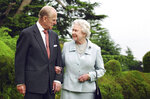 FILE - In this Nov. 18, 2007 file photo, Queen Elizabeth II and the Duke of Edinburgh at Broadlands. Prince Philip, the irascible and tough-minded husband of Queen Elizabeth II who spent more than seven decades supporting his wife in a role that both defined and constricted his life, has died, Buckingham Palace said Friday, April 9, 2021. He was 99. (Fiona Hanson/PA via AP, File)