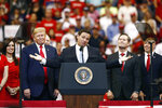 Florida Gov. Ron DeSantis speaks about President Donald Trump during a campaign rally Tuesday, Nov. 26, 2019, in Sunrise, Fla. (AP Photo/Brynn Anderson)