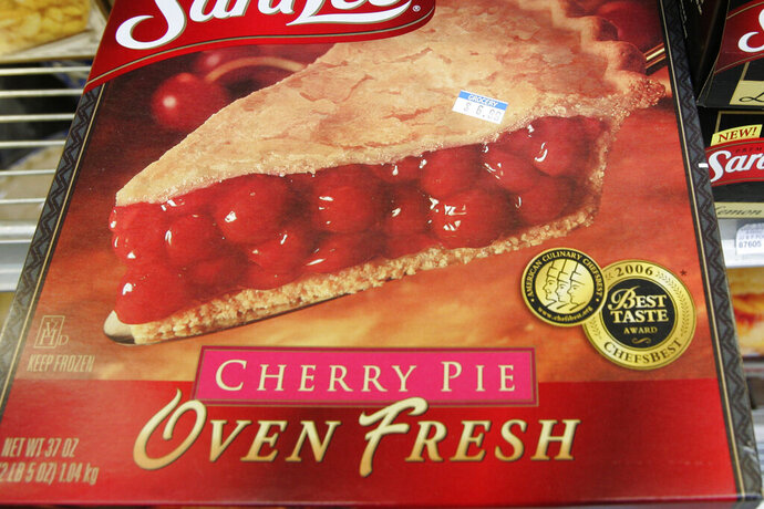 FILE - This Monday, Feb. 2, 2009 file photo shows a frozen cherry pie in a store's freezer in Palo Alto, Calif. In 2019, the Food and Drug Administration is preparing to propose getting rid of a federal standard for frozen cherry pie, which say the products must be at least 25% cherries by weight. (AP Photo/Paul Sakuma)