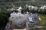 A wastewater treatment plant is inundated from floodwaters in the aftermath of Hurricane Florence in Marion, S.C., Monday, Sept. 17, 2018. (AP Photo/Gerald Herbert)