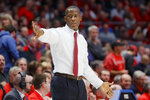 Dayton coach Anthony Grant directs his players during the second half of an NCAA college basketball game against Virginia Commonwealth, Tuesday, Jan. 14, 2020, in Dayton, Ohio. (AP Photo/John Minchillo)