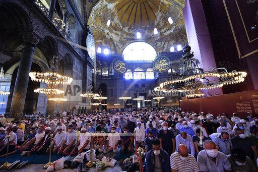 APTOPIX Turkey Hagia Sophia