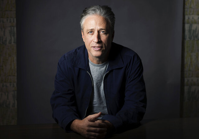 FILE - In this Nov. 7, 2014 file photo, Jon Stewart poses for a portrait in New York. Stewart directed the comedy