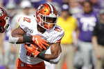 Bowling Green running back Bryson Denley (12) runs the ball during the first half of an NCAA college football game against Kansas State Saturday, Sept. 7, 2019, in Manhattan, Kan. (AP Photo/Charlie Riedel)