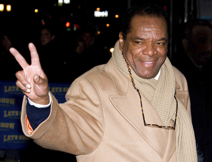 FILE - In this Dec. 21, 2009, file photo, John Witherspoon leaves a taping of