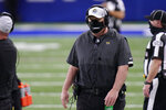 Jacksonville Jaguars head coach Doug Marrone watches during the first half of an NFL football game against the Indianapolis Colts, Sunday, Jan. 3, 2021, in Indianapolis. (AP Photo/AJ Mast)