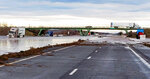 This photo provided by the Oregon State Police shows severe flooding on Interstate 84, a major freeway linking Idaho and Oregon, near Hermiston, Ore., Friday, Feb. 7, 2020. Flooding has forced evacuations in low-lying areas and stranded at least one family on their roof. Snow melt caused the Umatilla River and other tributaries in northeast Oregon to overflow their banks late Thursday. (Oregon State Police via AP)