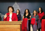 FILE - In this Jan. 29, 2019 file photo Minnesota State Rep, Mary Kunesh-Podein, D-New Brighton, speaks at a news conference at the state Capitol in St. Paul. Lawmakers in at least seven states have introduced legislation to address the unsolved deaths and disappearances of numerous Native American women and girls. (AP Photo/Steve Karnowski, File)