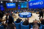 International Monetary and Financial Committee meeting, at the World Bank/IMF Spring Meetings in Washington, Saturday, April 13, 2019. (AP Photo/Jose Luis Magana)
