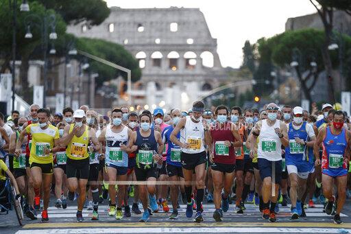 APTOPIX Italy Rome Marathon