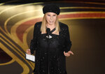 FILE - In this Feb. 24, 2019 file photo, Barbra Streisand introduces
