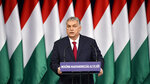 Hungarian Prime Minister Viktor Orban delivers his annual 'State of Hungary' speech in the Varkert Bazaar conference hall of Budapest, Hungary, Sunday, Feb. 16, 2020. (Zsolt Szigetvary/MTI via AP)