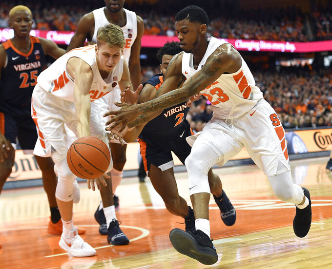 Long ball propels No. 2 Virginia over Syracuse 79-53