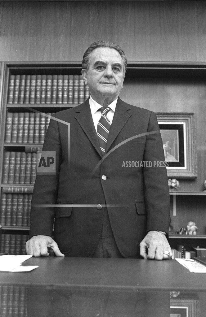 Watchf Associated Press Domestic News  Dist. of Col United States APHS JOHN  SIRICA 1973