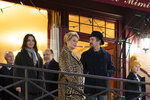 This image released by IFC Films shows, foreground from left, Juliette Binoche, Catherine Deneuve, Ethan Hawke and Clémentine Grenier in a scene from