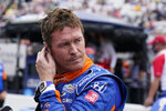 Scott Dixon, of New Zealand, looks at his speed during qualifications for the Indianapolis 500 auto race at Indianapolis Motor Speedway, Saturday, May 22, 2021, in Indianapolis. (AP Photo/Darron Cummings)