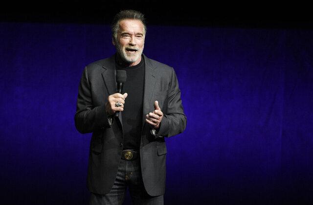 FILE - Arnold Schwarzenegger discusses