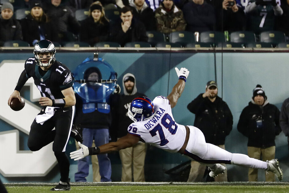 APTOPIX Giants Eagles Football