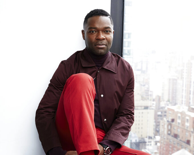 """FILE - David Oyelowo posing for a portrait in New York on April 8, 2019. Oyelowo makes his directorial debut in """"The Water Man,"""" which arrives in theaters Friday. (Photo by Taylor Jewell/Invision/AP, File)"""