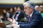 Federal Reserve Chairman Jerome Powell testifies before the House Committee on Financial Services, on Capitol Hill, Tuesday, Feb.11, 2020 in Washington. (AP Photo/Alex Brandon)