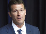New Nevada men's basketball coach Steve Alford talks to reporters in Reno, Nev., Friday, April 12, 2019, where he was introduced as the successor to Eric Musselman, who left this week to become coach at Arkansas. (AP Photo/Scott Sonner)
