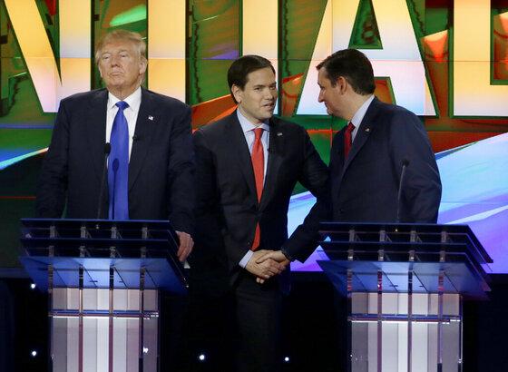 Donald Trump, Marco Rubio, Ted Cruz