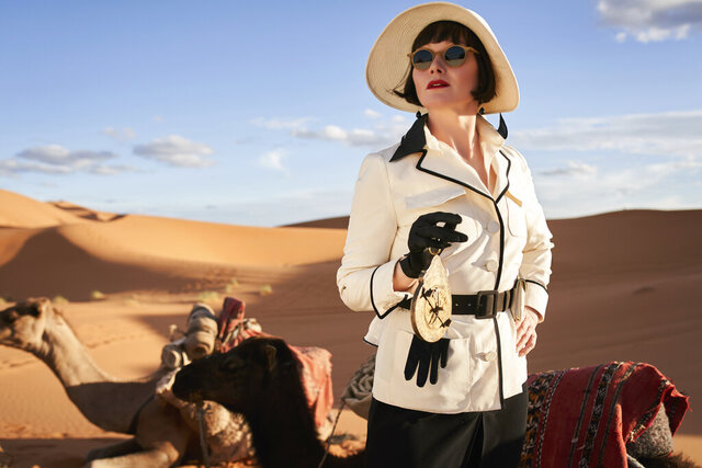 This image released by Acorn TV shows Essie Davis as Phryne Fisher in a scene from