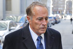 Former U.S. Rep. Chris Collins arrives at federal court for sentencing Friday, Jan. 17, 2020, in New York. Collins pleaded guilty last fall to insider trading and lying to the FBI. (AP Photo/Seth Wenig)
