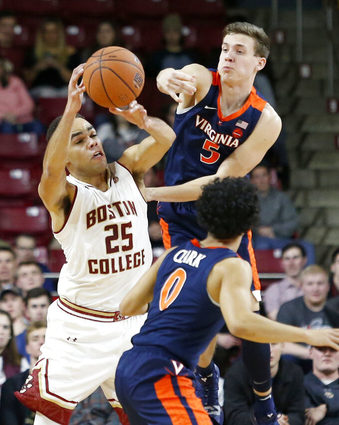 Virginia Cavaliers at Boston College Eagles 1/9/2019