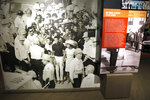 Among the displays, in the Mississippi Civil Rights Museum on Friday, July 19, 2019, is this blowup of a 1963 photograph taken by Associated Press staff photographer Bill Hudson, that includes a 16-year old Dorothy Pitchford, the young woman in the foreground, wearing a hat, and standing amid civil rights protestors who had been arrested on Capitol Street in Jackson, Miss. Pitchford family members recalled hearing stories about their relative's arrest, but until they visited the Mississippi Civil Rights Museum and saw the wall mural photograph of the arrest, they thought it was part family memory and part urban legend. (AP Photo/Rogelio V. Solis)