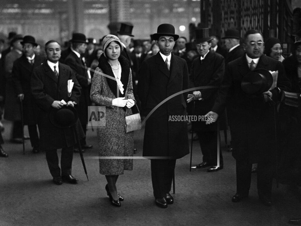 Watchf AP I   XEN GBR APHSL45170 Prince and Princess Takamatsu at Waterloo Station