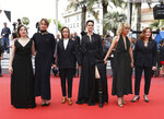 Actresses Luana Bajrami, from left, Adele Haenel, director Celine Sciamma, actresses Noemie Merlant, Valeria Golino, and Benedicte Couvreur pose for photographers upon arrival at the premiere of the film 'Portrait of a Lady on Fire' at the 72nd international film festival, Cannes, southern France, Sunday, May 19, 2019. (Photo by Vianney Le Caer/Invision/AP)