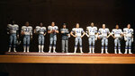 The miniature likeness of the 1977 Dallas Cowboys team is displayed on a shelf at the home of former Cowboys and NFL football great Cliff Harris (43) in North Dallas, Wednesday, June 30, 2021.Harris and receiver Drew Pearson, who also will be inducted this year as part of the class of 2021, are the first undrafted Cowboys among their 15 players in the Hall of Fame. (AP Photo/LM Otero)