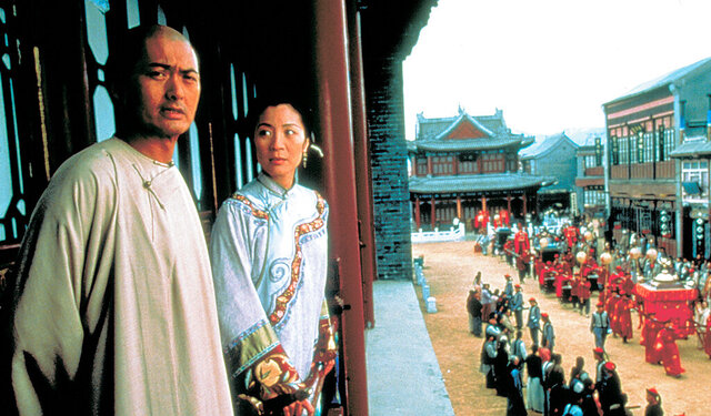 This photo released by Sony Pictures Classics shows Chow Yun Fat, left, and Michelle Yeoh in a scene from