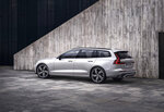 This photo provided by Volvo shows the 2021 V60, a small station wagon with plush seating for passengers and an impressive list of safety features. (Volvo Cars of North America via AP)