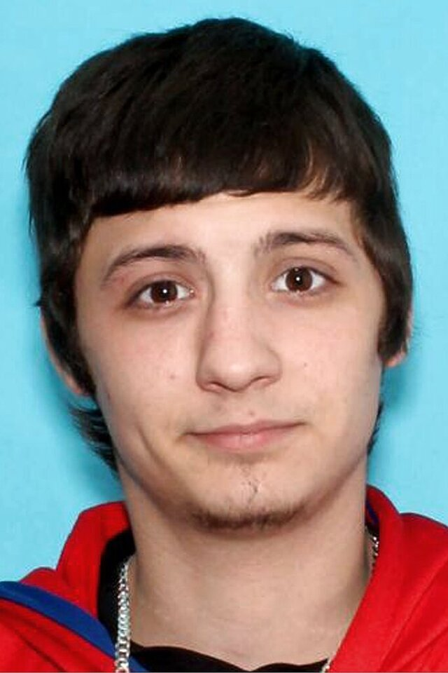 This undated identification photo released Wednesday, May 27, 2020, by the Vermont State Police shows Evan Labonte, of Fairfax, Vt., wanted as a suspect in a Wednesday morning shooting in Underhill, Vt. (Vermont State Police via AP)
